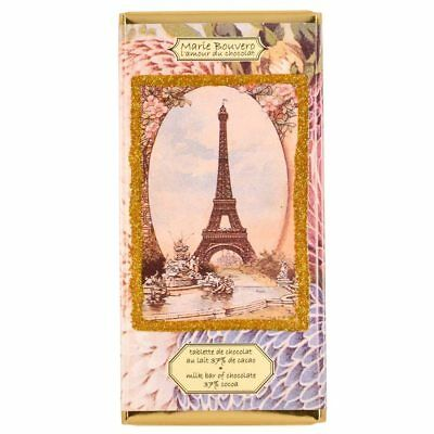 French Milk Chocolate Tablet 100g by Marie Bouvero of Paris, Eiffel Tower wit...