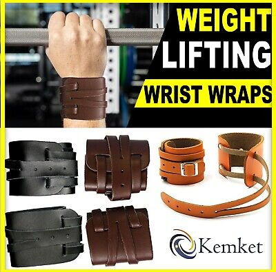 Leather Weightlifting Wrist Straps / packs pair for Weight Lifting Wrist Support