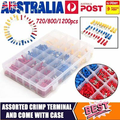 Electrical Wire Connector Assorted Insulated Crimp Terminals Spade Set AU