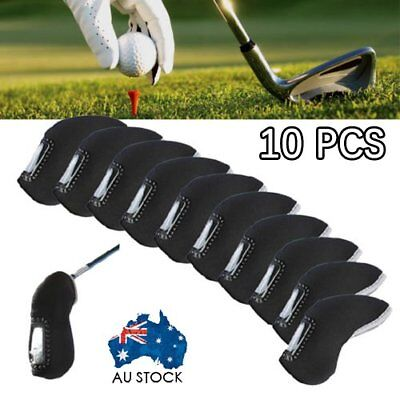 10Pcs/Set  Neoprene Sports Golf Club Iron Head Covers Putter Head Protective AUS