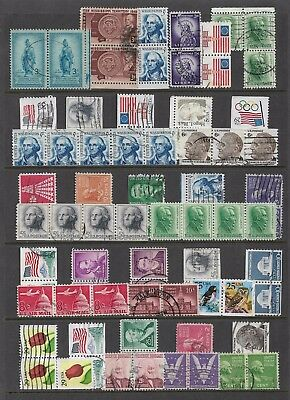 USA - mixed collection, joined pairs & strips, bulk lot No.4