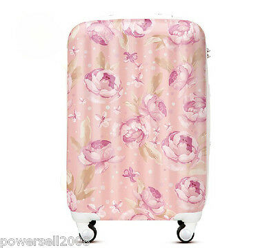 "#1 28"" New Elegant Flowers Universal Wheel ABS+PC Travel Suitcase Luggage LLX"
