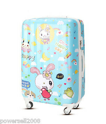 "28"" New TSA Lock Universal Wheel Cartoon Rabbit ABS+PC Travel Suitcase Luggage"