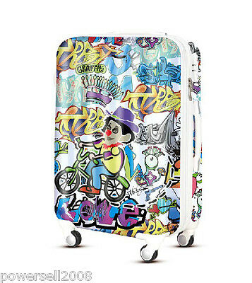 "28"" TSA Lock Universal Wheel Graffiti ABS+PC Ultralight Travel Suitcase Luggage"