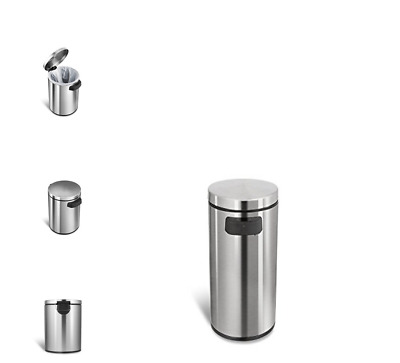 Trash Can Bathroom With Electric Lid Small Electronic Touchless Motion Sensor