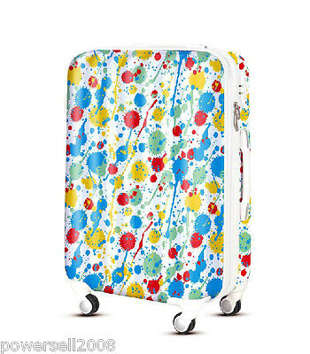 "28"" TSA Lock Universal Wheel Multicolor Painting ABS+PC Travel Suitcase Luggage"