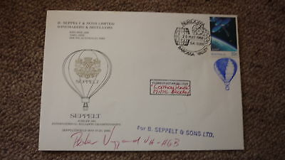 Old Hot Air Balloon Flight Cover, 1986 Balloon Championship Seppeltsfield Signed