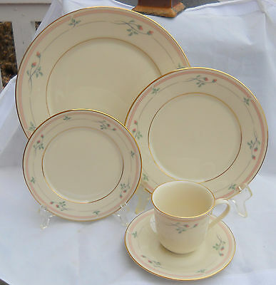 Lenox Rose Manor Dinner Salad Bread Plate Cup Saucer S 8 Place Setting Available