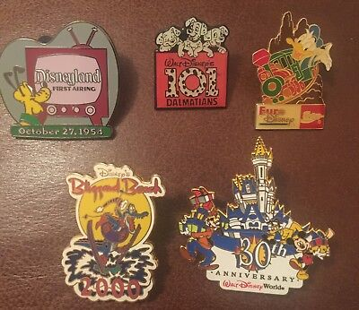 Disney Pin Mickey Mouse Blizzard Beach Pluto Dalmatians X 5 Pins JobLot Bundle