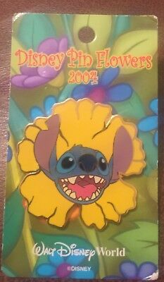Disney Pin Stitch Golden Poppy Flower Limited Edition 2500 Brand New