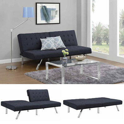 Sofa Bed Couch Convertible Full Double Multi Position Metal Futon Sleeper