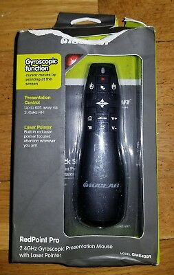 IOGEAR GME430R Red Point Pro 2.4GHz Gyroscopic Presentation Mouse, Laser Pointer
