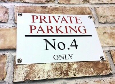 Personalised Quality Private No Parking Metal Sign Weatherproof 25Cm X 17Cm