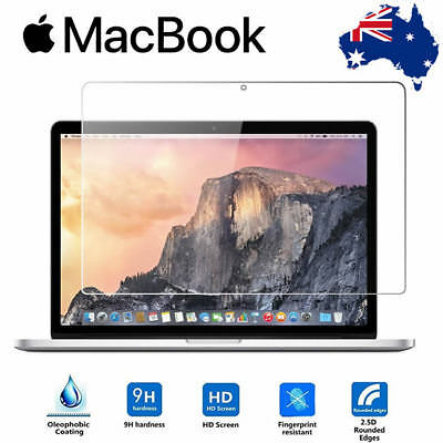 "For Macbook Pro 13"" Premium Tempered Glass 9H Clear Screen Protector Film OZ"