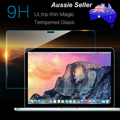 High Strength Tempered Glass 9H Clear Screen Protector Film For Macbook Pro 13""