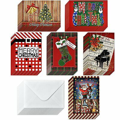 OpenBox 48 Christmas Greeting Cards with Envelopes Assorted Holiday Gift Cards