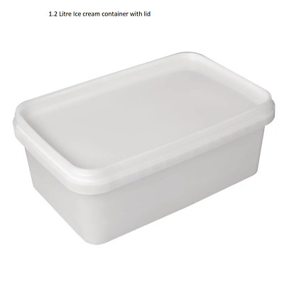 1.25 Litre FOOD SAFE TUB SANDWICH ICE CREAM STORAGE PLASTIC CONTAINERS WITH LIDS