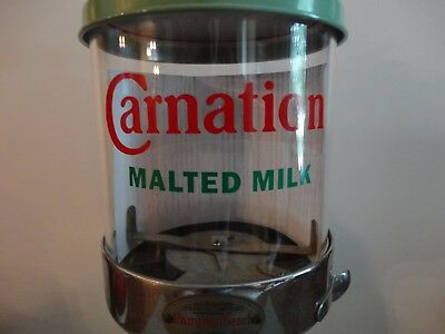 Malt Dispenser Model 20 New Replacement Glass Only - Carnation Logo Label