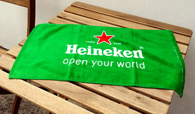 Lot of 2 Heineiken Beer Towels, Bar Pub Collectible (33.50 x 60 cm) NEW