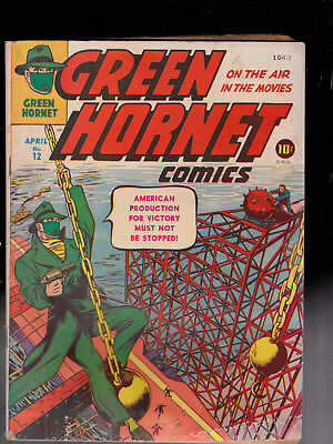 Green Hornet 12 WWII  Cover Water Damage paper replacement Powell art Miller