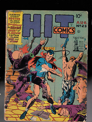 Hit Comics 23 WWII Nazi Torture cover by Crandall tape  Raymond Miller