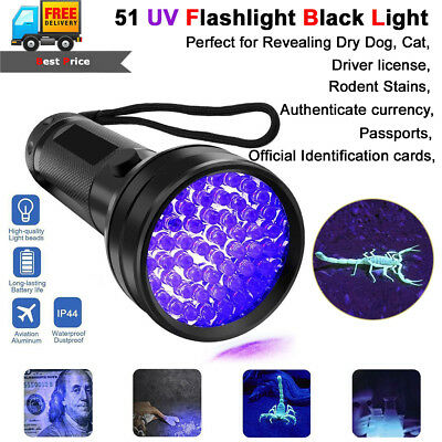 UV Scorpion Blacklight Detector Torch Ultra Violet Flashlight Finder Hunter lamp