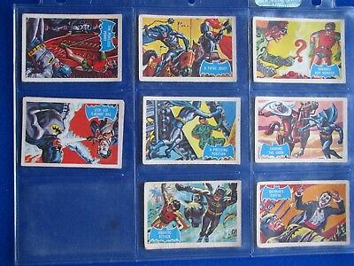 A&BC Batman Bubblegum Cards ( Blue Bat )   * Choose The One's You Need *  1966