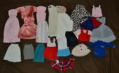 Vintage Barbie Clone/Fashion Doll and Handmade Mixed Clothing Lot