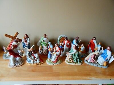 Greatest Story Ever Told by HOME Jesus porcelain figurines lot of 11