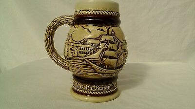AVON Tall Ships Ceramic Stein ~ Handcrafted In Brazil 1982