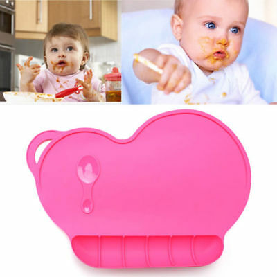 New Kids Toddlers Silicone Baby Placemat Plate Bowl Dish Food Tray Table Mat