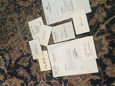 Political Letters/Cards Signed Truman, Smith, McCarthy, McGovern, Muskie + #3