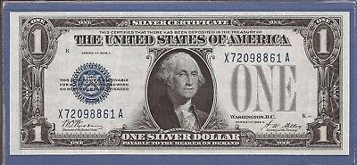 1928 A $1 Silver Certificate,Funny Back Note,Blue Seal,Choice Crisp XF,Nice!