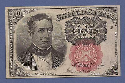 1874-1876 5th Issue 10¢ Fractional Currency,FR 1266,Meredith,CH crisp XF,Nice!