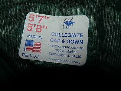 Collegiate Cap / gown Jones graduation ( or Arabian horse costume base) green,