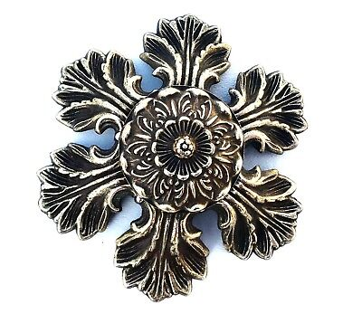 Flower Brass Antique Hardware Drawer Pull Cabinet Knob French Provincial Country