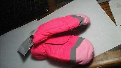 3M Thinsulate Toddler Girls 2T-4T Pink Snow Mittens waterproof