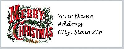 Personalized address labels Merry Christmas Buy 3 get 1 free (xbo 674)