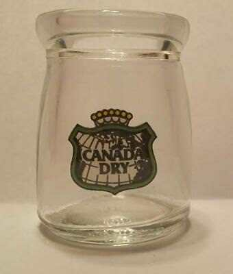 "Canada Dry Ginger Ale 1/2"" oz. Glass Coffee Creamer Bottle 1 5/8"" Tall"