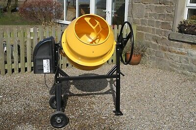 Charles Bentley 125L 230V 550W Portable Cement Concrete Mixer With Wheels