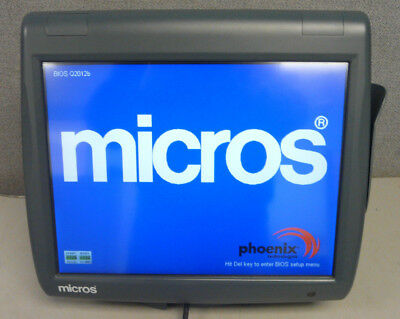 Micros WS5A Workstation 5A with Stand. RES 3700 or E. Win CE 400814-101 F