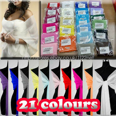 Quality long chiffon shawl wrap scarf scarves capes for formal party prom dress