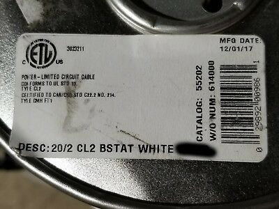 Southwire Barostat II 20/2C 20awg 2 Conductor Solid Thermostat Cable White /50ft