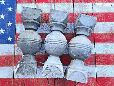 3 Reclaimed Antique Wood Shabby Chic Candle Stands Crusty Balusters Vintage