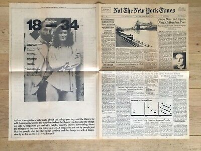 1x NOT The New York Times | Streikausgabe | Okt 23, '78 | Strike Parody | selten