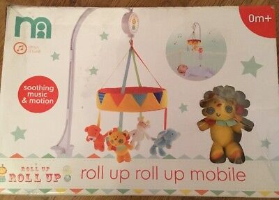 Mothercare Roll Up Roll Up Cot Mobile ** Brand New **