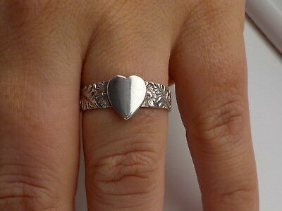 Antique Silver Ring With Heart Metal Detecting Find