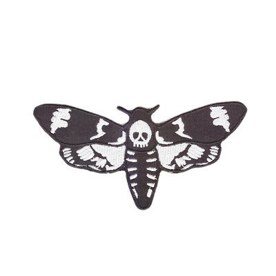 DEATHSHEAD MOTH Embroidered Patch - Acherontia styx Dracula Silence of the Lambs
