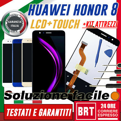 Lcd+Touch Screen Huawei Honor 8 Fdr-L09 L19 Display Schermo Originale +Kit Smo!!