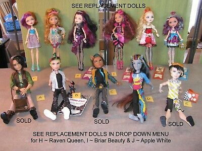 PICK ONE ~ MONSTER or EVER AFTER HIGH DOLLS ~ BOYS MANSTERS ~ MANY DOLL OPTIONS